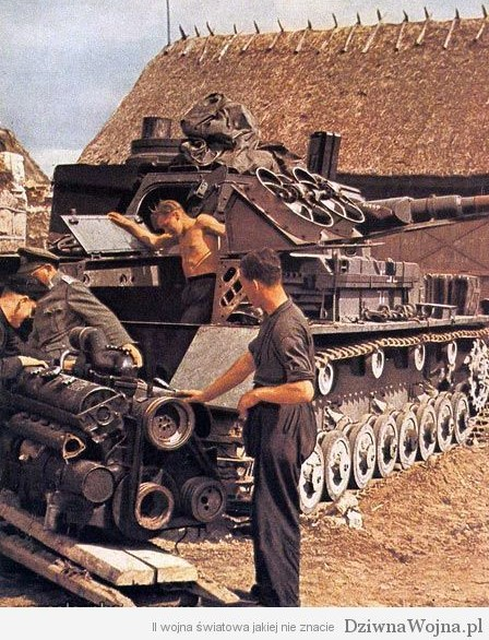 naprawa polowa PzKpfw IV front wschodni