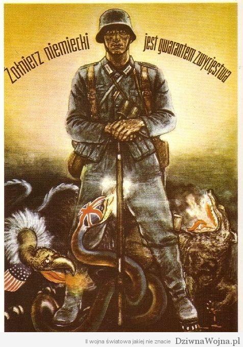 Plakat propagandowy niemiecki zolnierz