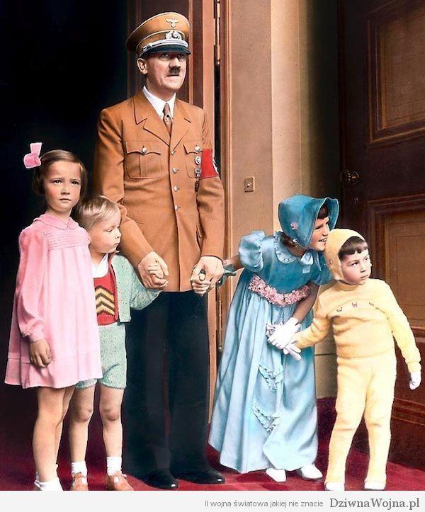 Adolf Hitler with Children