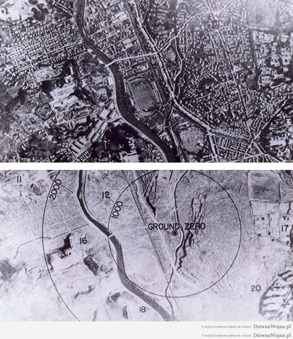 Nagasaki 1945 przed i po