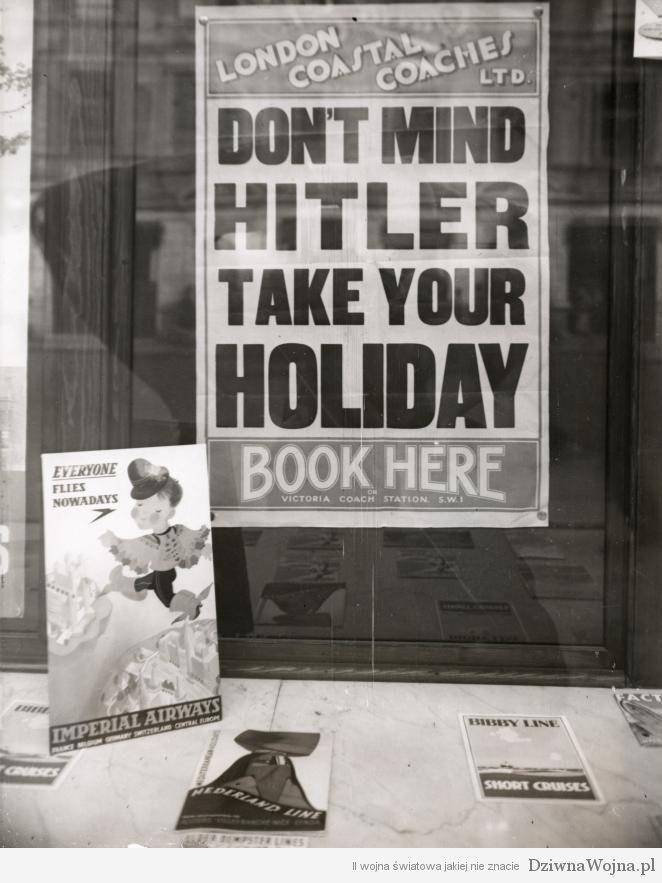 Plakat reklamowy agencji turystycznej londyn 1939