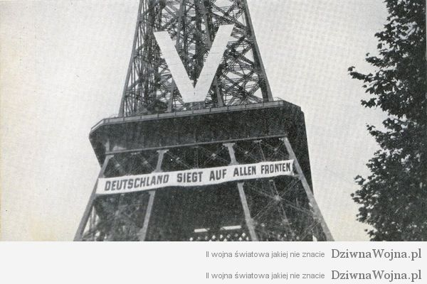 The Eiffel Tower during the Nazi occupation, 1940.