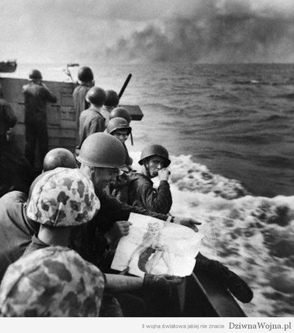 amerykanscy zolnierze pin-up girl tarawa 1943