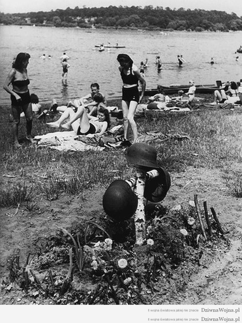 groby niemieckich zolnierzy rzeka havel 1946