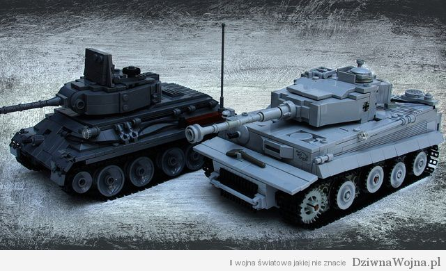 lego tiger and t-34