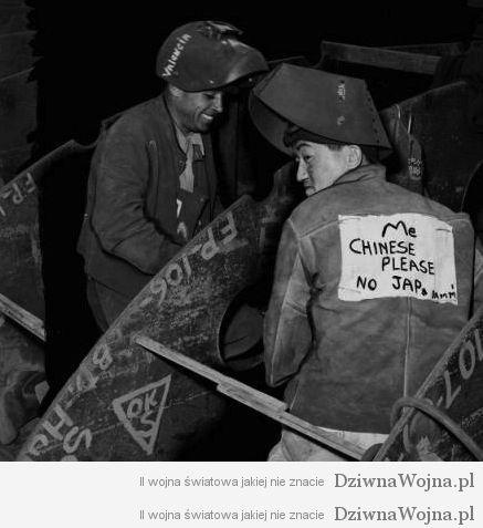 Chinczyk w pracy w ameryce ii wojna swiatowa