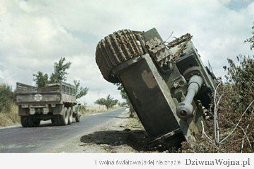 Wrak Niemieckiego czołgu ciężkiego Tygrys 1944