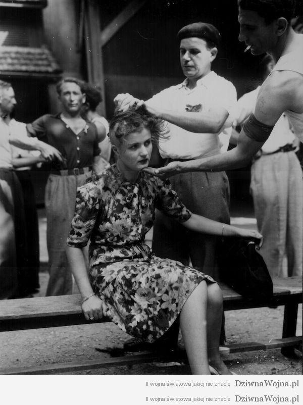 Okrutna kara za zdrade Francja 1944