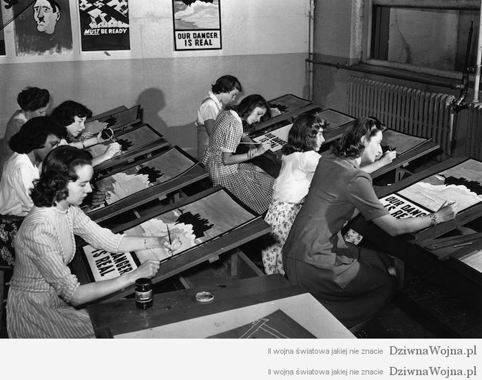 Proces powielania plakatow propagandowych nowy jork 1942