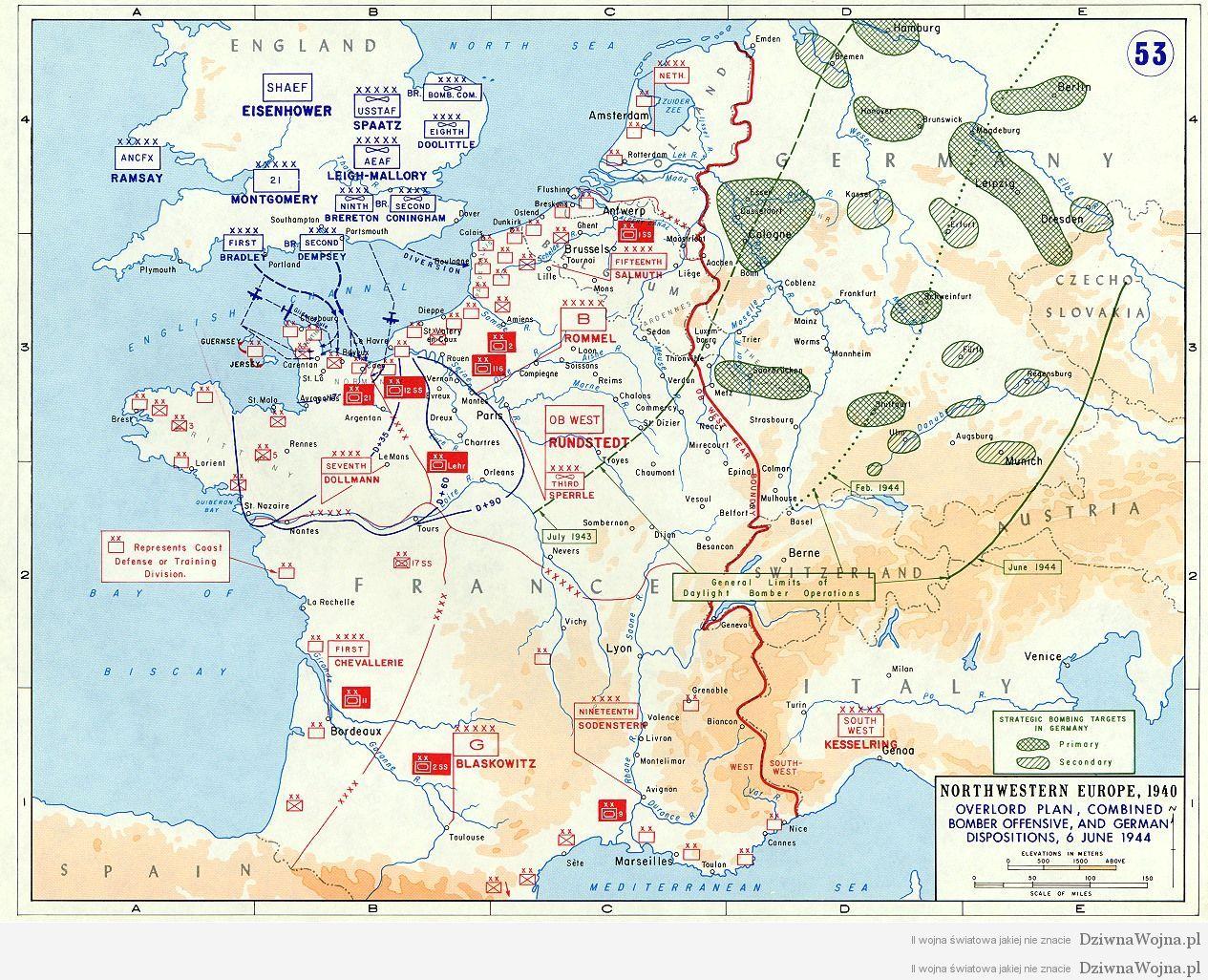 d-day mapa