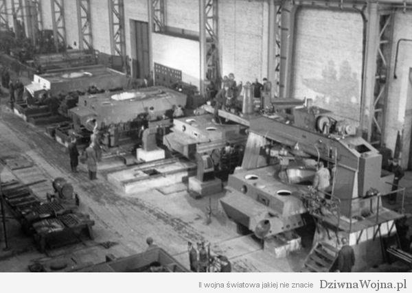 Linia produkcyjna PzKpfw VI Tygrys 1943