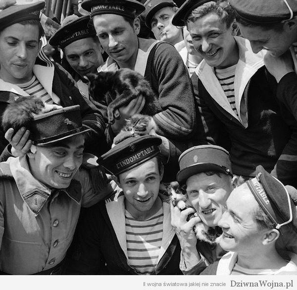 Marynarze-pozuja-do-zdjecia-z-kotkami-1940