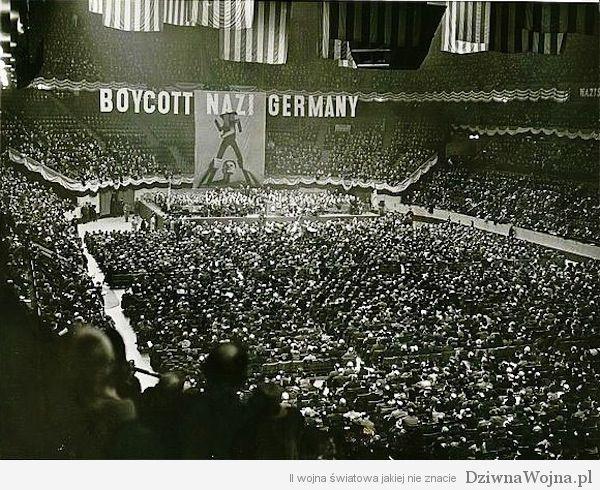 Zydzi bojkotuja niemieckie towary USA 1937