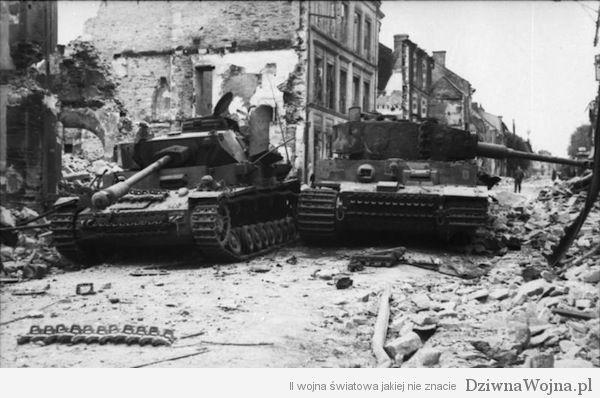 Villers-Bocage, zerstˆrte Panzer IV und VI