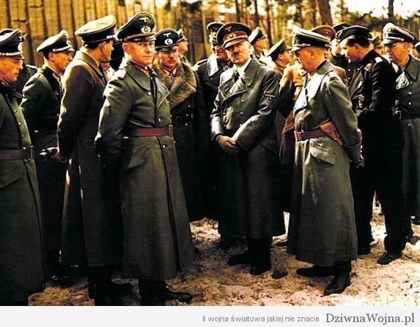Alfred Jodl, Heinz Guderian, Wilhelm Keitel, Adolf Hitler, Karl-Otto Saur