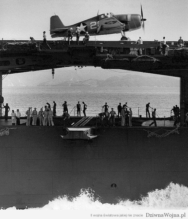 F6F Hellcat na pokładzie lotniskowca USS Yorktown 1943