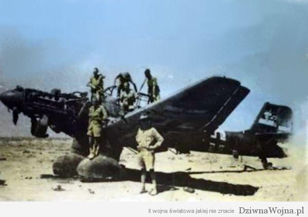 Wrak Ju 87 Stuka w Libii 1941
