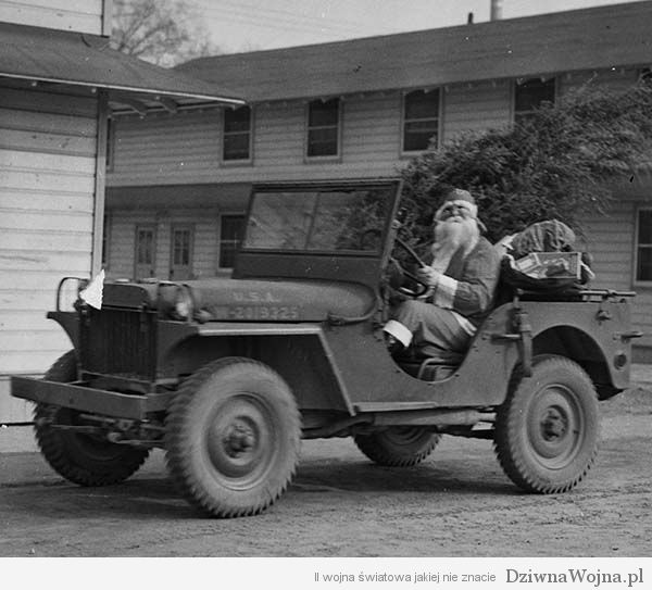 US Army soldier dressed as Santa Claus 1941