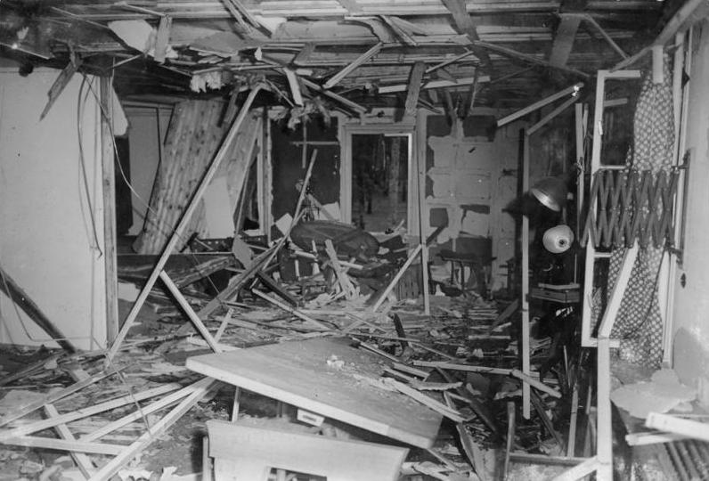 Kwateria Hitlera chwilę po zamachu